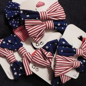 AMERICAN BOWS WITH STARS 2 IN PACK  5 PACKS IN BAG